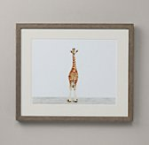 Baby Animal Portrait - Giraffe