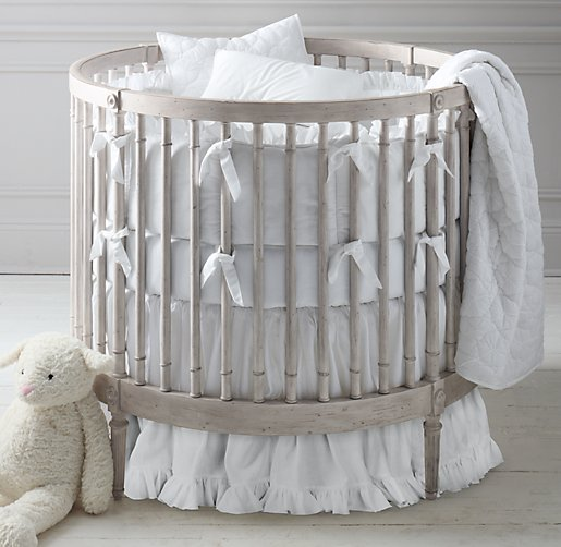 Frayed Ruffle Round Nursery Bedding Collection