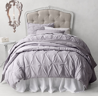 Pintucked Bow Italian Love Letter Bedding Collection