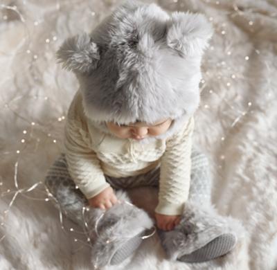 Luxe Faux Fur Baby Animal Hood