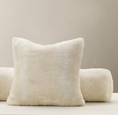 Luxe Faux Fur Decorative Pillow Cover & Insert - Arctic Fox