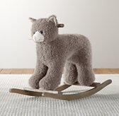 Shaggy Plush Animal Rocker - Cat