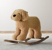 Shaggy Plush Animal Rocker - Dog