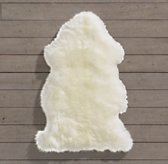 Natural Sheepskin Wool Rug Single