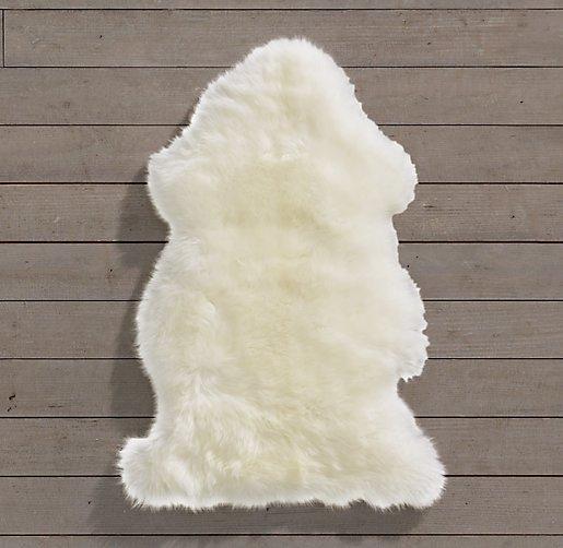 Natural Sheepskin Wool Rug Single