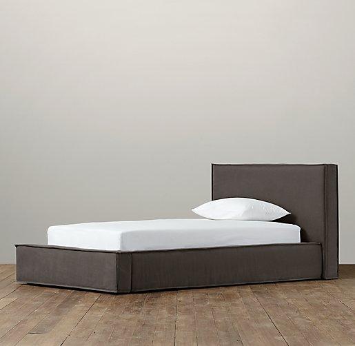 hayes upholstered platform bed tap to zoom - Upholstered Platform Bed