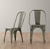 Vintage Steel Play Chair Set of 2 - Steel