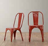Vintage Steel Play Chair Set of 2 - Distressed Red