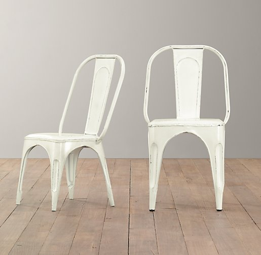 Vintage Steel Play Chair Distressed White – Vintage Kids Table and Chairs
