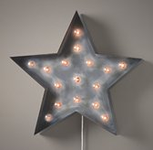 Vintage Illuminated Star Weathered Metal