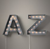 Vintage Illuminated Marquee Letter Weathered Metal