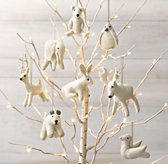 Wool Felt Animal Ornament (Set of 8)