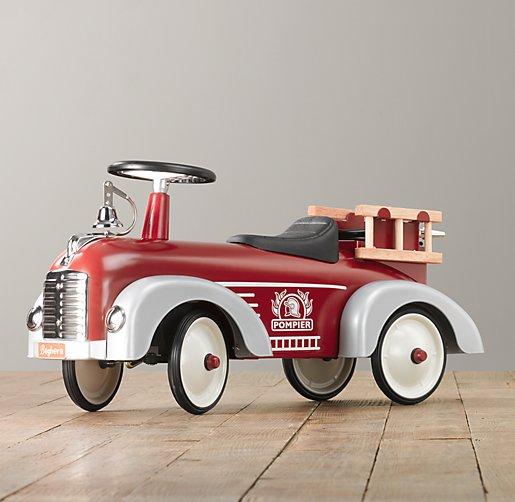 vintage fire truck scoot. Black Bedroom Furniture Sets. Home Design Ideas
