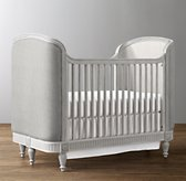 Belle Upholstered Crib - Antique Grey Mist