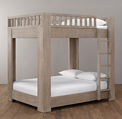 Callum platform full over full bunk bed for Full bed with mattress included