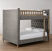 Chesterfield Velvet Full-Over-Full Bunk Bed