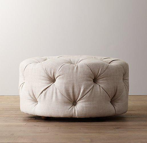 Mercer Tufted Upholstered Round Ottoman