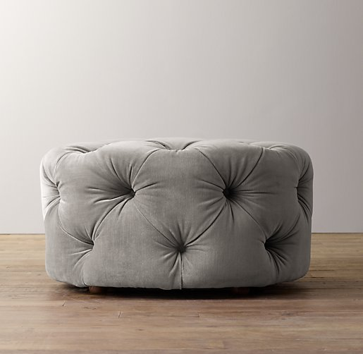 Admirable Mercer Tufted Velvet Round Ottoman Caraccident5 Cool Chair Designs And Ideas Caraccident5Info
