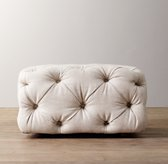 Mercer Tufted Upholstered Square Ottoman