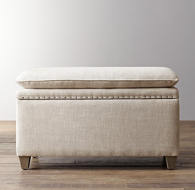 Superb Classic Nailhead Upholstered Storage Bench Gmtry Best Dining Table And Chair Ideas Images Gmtryco
