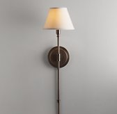 Ellis Swing-Arm Sconce with Shade - Chestnut
