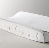Embroidered Safari Changing Pad Cover