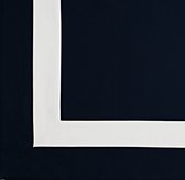 Appliquéd Frame Cotton Canvas Roman Shade Swatch