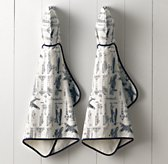 Vintage Airplane Hooded Towel - Baby