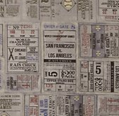 Vintage Baseball Ticket Bedding Swatch
