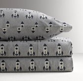 Rocket Ship Jersey Sheet Set