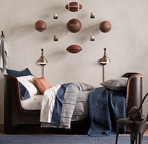Throw Pillow Display Rack : Leather Catcher s Mitt Decorative Pillow Cover & Insert