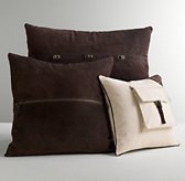 Canvas & Suede Decorative Pillow Cover