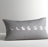 Moon Phases Decorative Pillow Cover
