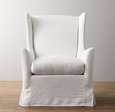Wingback Swivel Glider with Slipcover