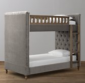 Chesterfield Velvet Twin-Over-Twin Bunk Bed
