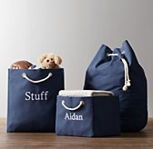 Solid Canvas Storage - Navy