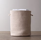 Braided Wool Hamper - Natural