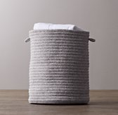 Braided Wool Hamper - Grey