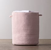 Braided Wool Hamper - Petal