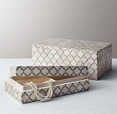 Trellis Jewelry Box - Grey