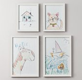 Weathered Art Frames - White