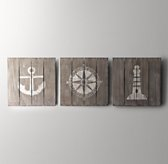 Wood-Plank Nautical Art