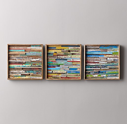 - Reclaimed Boat Wood Art - Square