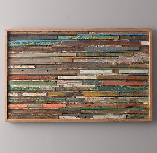 Reclaimed Boat Wood Art - Rectangular. Click to Zoom - Reclaimed Boat Wood Art - Rectangular