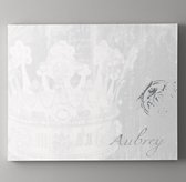 Personalized Crown Art - Grey