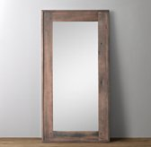 Salvaged Boatwood Leaner Mirror