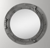 Porthole Mirror - Brushed Steel