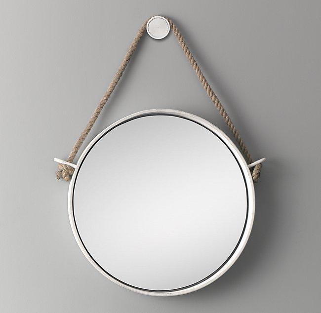 Brand-new Iron and Rope Mirror - White PC17