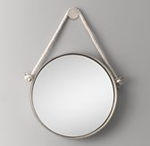 Iron and Rope Mirror - Pewter