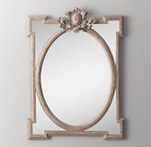 Juliette Small Dresser Mirror - Antique Grey Linen